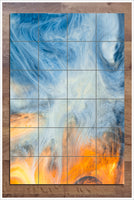 Abstract Clouds -  Tile Mural