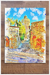 Architecture Watercolor Painting 01 -  Tile Mural