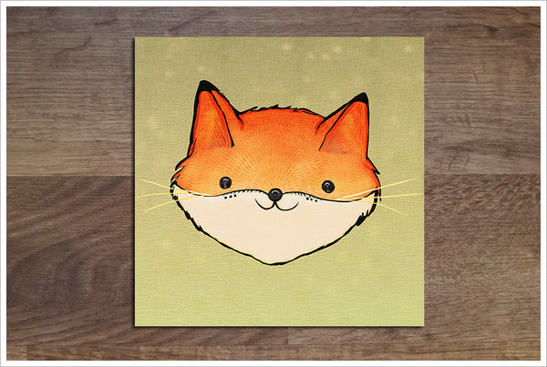Baby Fox Drawing -  Accent Tile