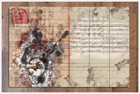 Banjo Player Music Collage -  Tile Mural