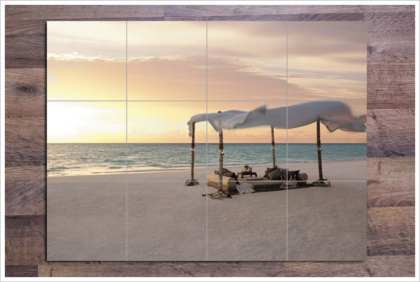 Beach Oasis - Ceramic Tile Mural