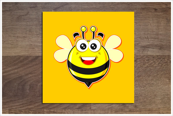 Honey Bee Cartoon -  Accent Tile