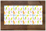 Colorful Birds -  Tile Border