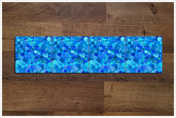 Blue Dots - Ceramic Tile Border