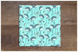 Blue Flamingos -  Tile Border