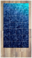 Blue Squares Abstract -  Tile Mural