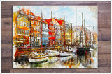 Boats Watercolor Painting v1 -  Tile Mural