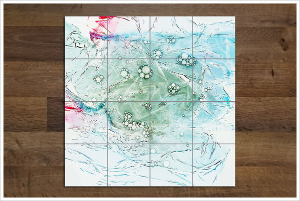 Bubbles Abstract - Ceramic Tile Mural