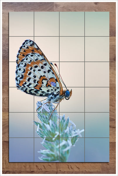 Butterfly on a Branch -  Tile Mural