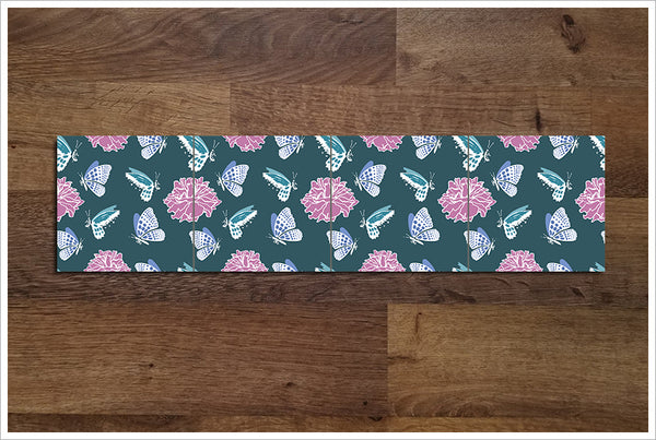 Butterfly Flowers -  Tile Border