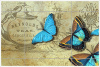 Butterfly Tea Ad Collage -  Tile Mural