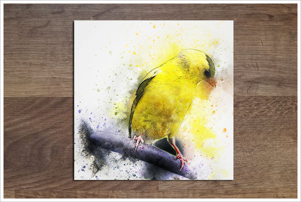 Canary Watercolor - Ceramic Accent Tile