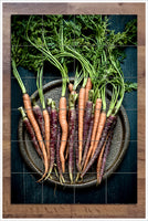 Colorful Carrots on Round Tray -  Tile Mural