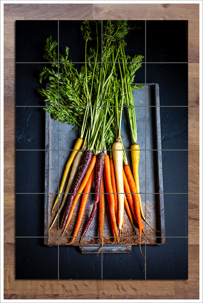 Carrots on a Tray -  Tile Mural