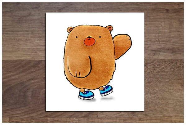 Cartoon Bear -  Accent Tile