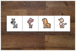 Cartoon Dogs 8 Designs - Ceramic Accent Tile