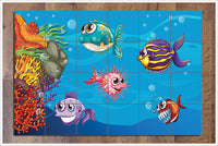 Cartoon Fish Underwater -  Tile Mural