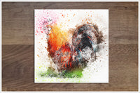 Rooster Watercolor -  Accent Tile