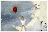 Little Boy on the Moon -  Tile Mural