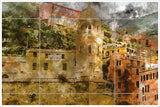 Cinque Terre Italy Painting -  Tile Mural