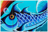 Colorful Fish -  Tile Mural