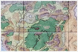 Dungeons & Dragons Forgotten Realms Faerûn World Map -  Tile Mural