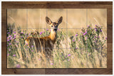 Deer in the Flowers -  Tile Mural