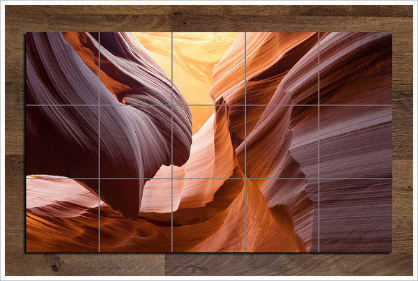 Desert Rock Wall -  Tile Mural