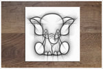 Pencil Sketch Baby Animals Set of 3 -  Accent Tiles
