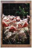 Pink Flamingos -  Tile Mural