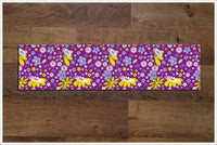 Purple Flower Pattern -  Tile Border