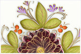 Flower & Leaves Graphic -  Accent Tile