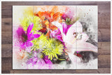 Flowers Watercolor Painting v2 -  Tile Mural