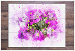 Flowers Watercolor Painting v3 -  Tile Mural
