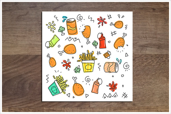Food Cartoon -  Accent Tile