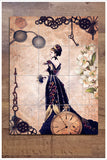 French Steampunk Collage - Ceramic Tile Mural