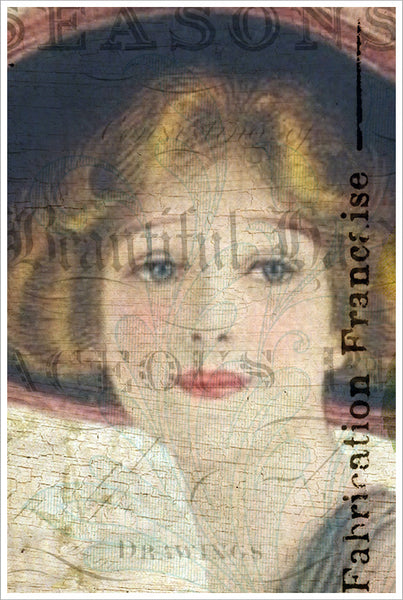 French Women Collage Paint Art