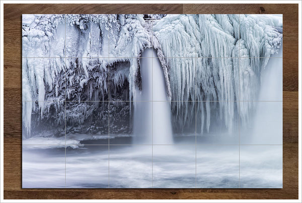 Frozen Waterfall - Ceramic Tile Mural