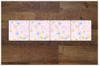 Flowers & Birds Pattern -  Tile Border