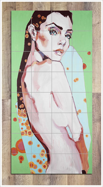 Female Nude Painting -  Tile Mural