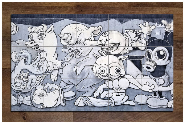 Graffiti Cartoon -  Tile Mural