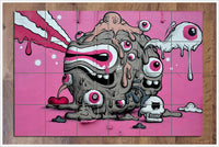 Graffiti Pink Eye -  Tile Mural