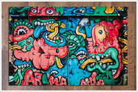 Graffiti Monsters -  Tile Mural