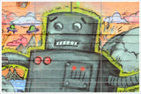 Graffiti Robot - Ceramic Tile Mural