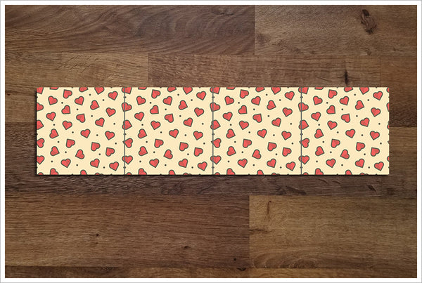 Graphic Hearts -  Tile Border
