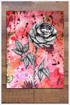 Graphic Rose - Ceramic Tile Mural
