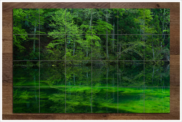 Green Reflections - Ceramic Tile Mural