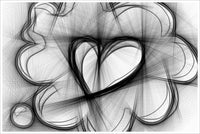 Heart Thoughts Pencil Sketch -  Accent Tile