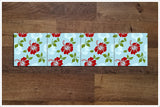 Hibiscus Flower Pattern -  Tile Border