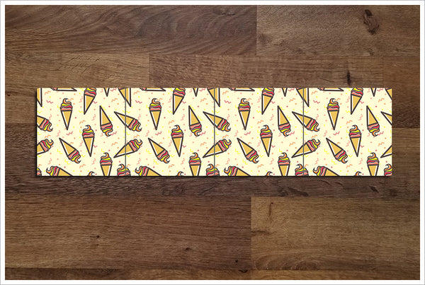 Ice Cream Cone Pattern - Ceramic Tile Border